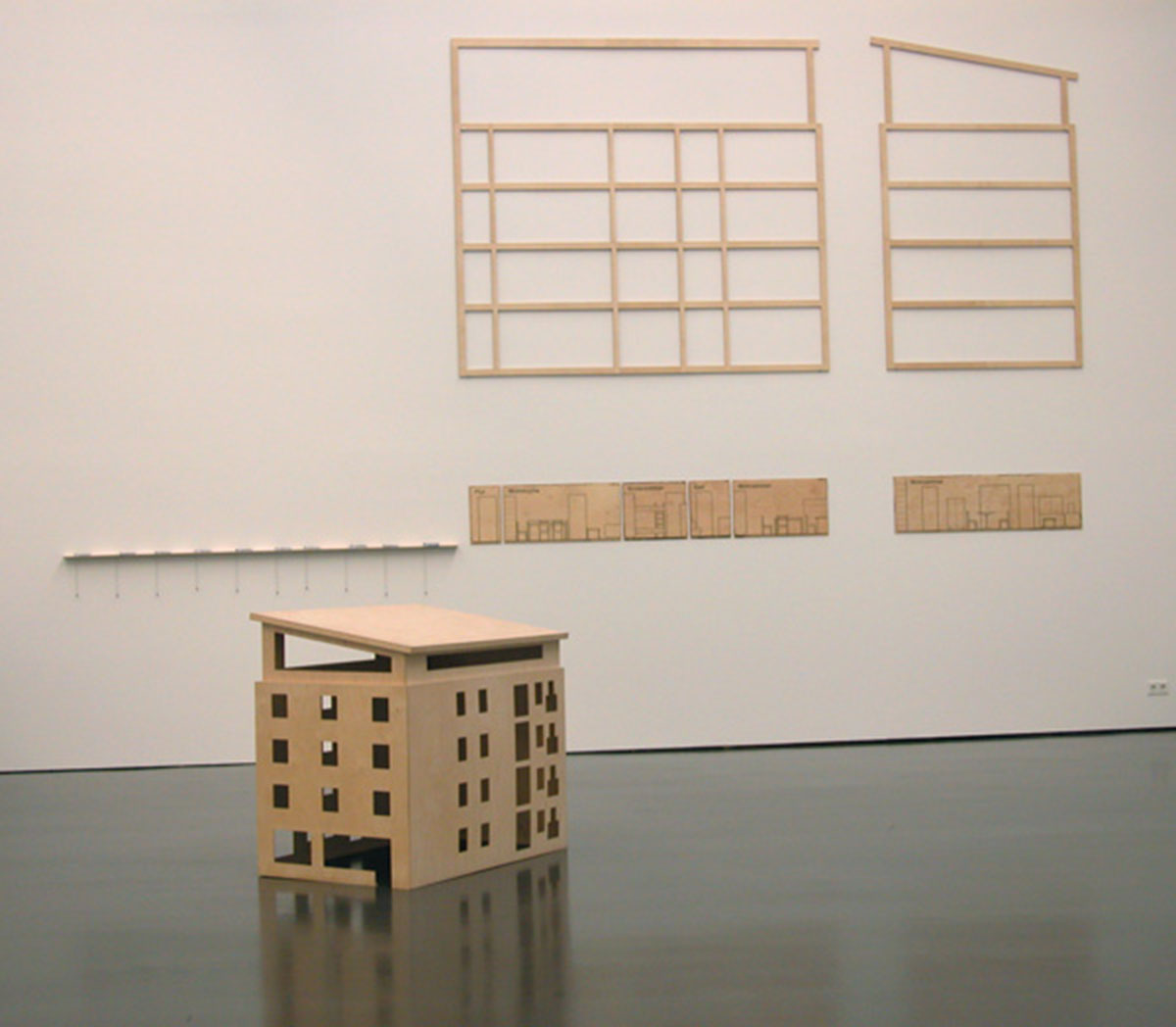 The Mustermann Family - Trauma of an Unattached Artist, © 2001 - 2003, Model, 1:20, sections and structures, 1:10, 4 - 15 mm plywood