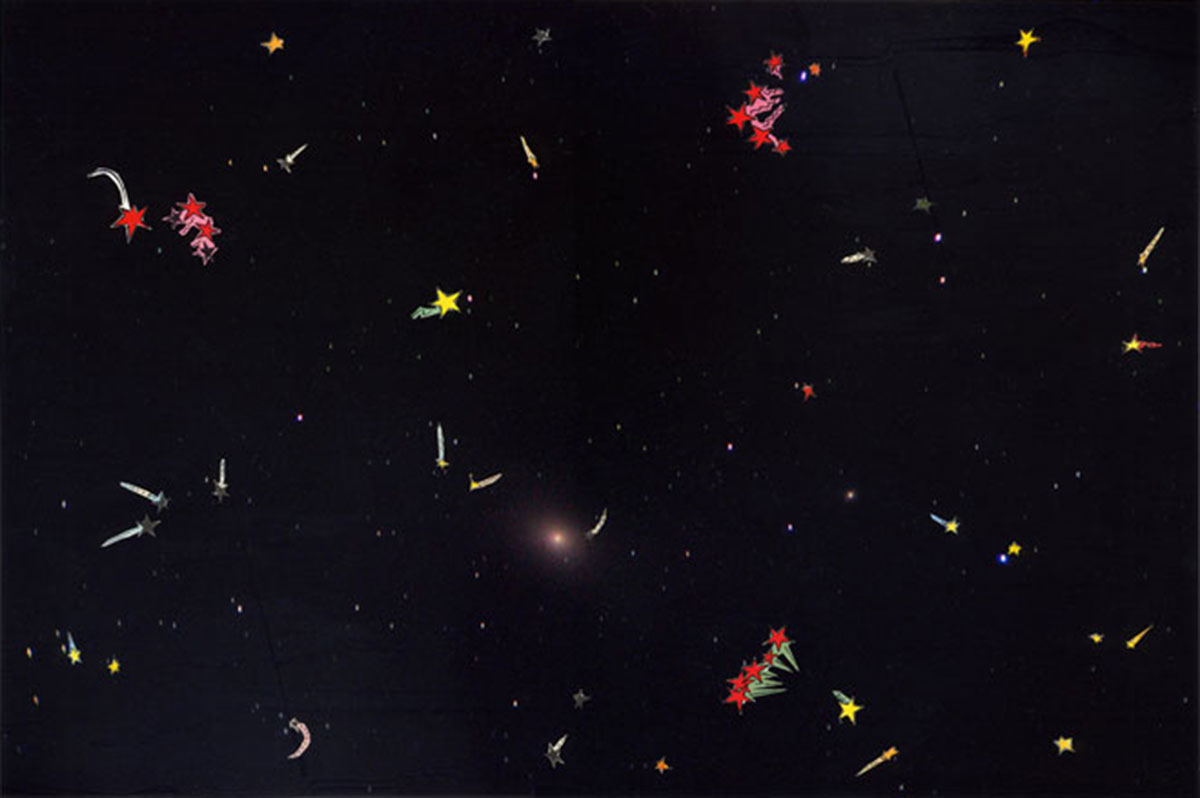 The Sky that saw the Stars, © 2006, Collage on photography, 32 x 45 cm
