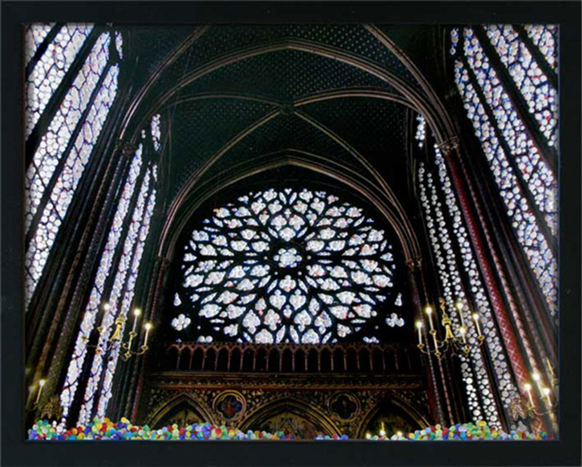 Mystery in the Cathedral, © 2010, Perforated c-print, confetti, 40 x 50 cm