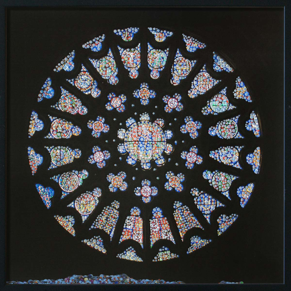 Revelation, Catedral de Burgos, © 2011, Perforated inkjet print, loose confetti produced by the perforation process, each 50 x 50 cm