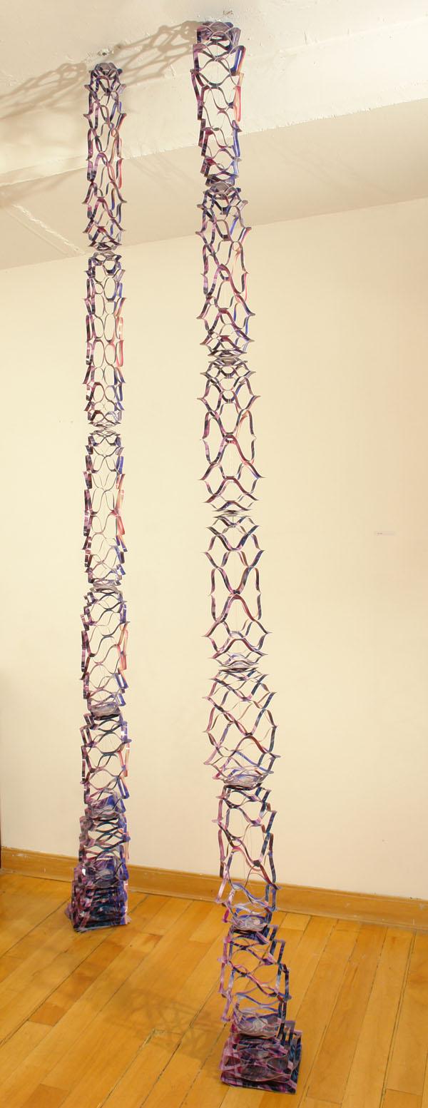 Echo, © 2008, Printed garland, approx. 18 x 18 x 300 cm