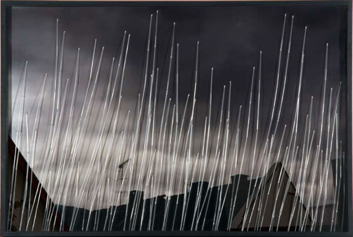 Lluvia y Tormento: El Diluvio II, © 2012, C-print, straws, 110 x 165 x 8 cm