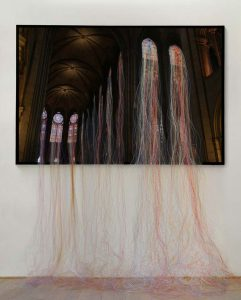 Transfiguration in Notre-Dame de Paris, © 2012, Diasec, fishing line, Approx. 200 x 160 cm