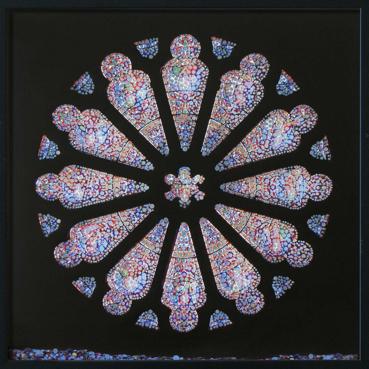 Revelation, Cathedral of the Sacred Heart, Richmond, © 2011, Perforated inkjet print, loose confetti produced by the perforation process, each 50 x 50 cm