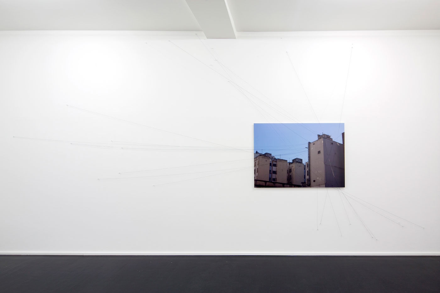 The Fates over Buenos Aires, © 2014, Diasec, cords and threads, Dimensions variable