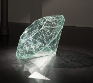 160,040.5 Carat, © 2014, Shattered safety glass, 70 x 100 x 67 cm